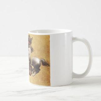 Kampf von Anghiari durch Leonardo da Vinci Kaffeetasse