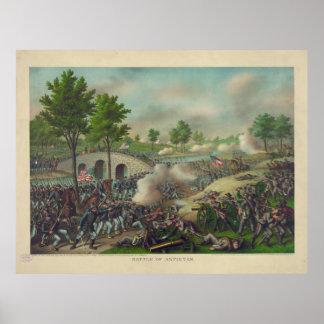 Kampf von Antietam durch Kurz u. Allison Poster