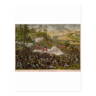 Kampf von Chickamauga, veröffentlicht circa 1890 Postkarte