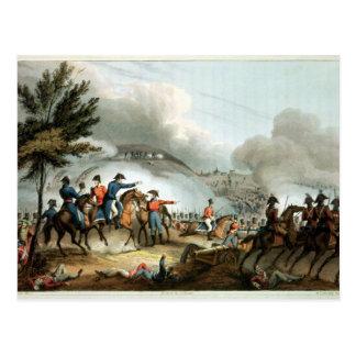 Kampf von Salamanca, geätzt von J. Clarke Postkarte