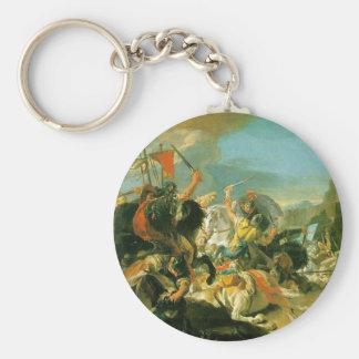 Kampf von Vercellae durch Giovanni Battista Standard Runder Schlüsselanhänger