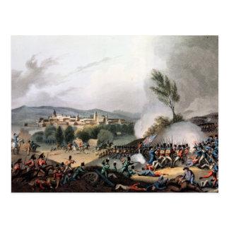 Kampf von Vittoria, geätzt von I. Clark Postkarte