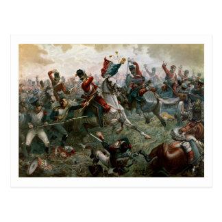 Kampf von Waterloo 1898 am 18. Juni 1815 (Farbe L Postkarte