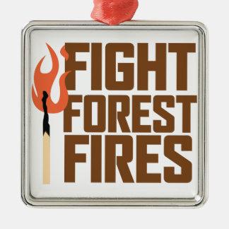 Kampf-Waldbrände Silbernes Ornament