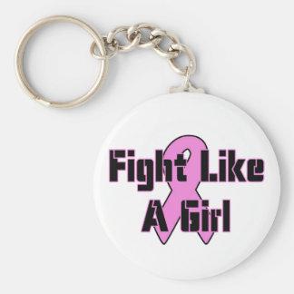 Kampf wie ein Mädchen Standard Runder Schlüsselanhänger