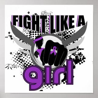 Kampf wie eine Mädchen-inländische Gewalt 33 8 Plakatdrucke