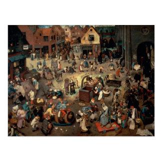 Kampf zwischen Karneval und geliehen, 1559 Postkarte