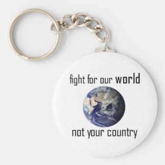 Kämpfen Sie für unsere Welt, nicht Ihr Schlüsselanhänger