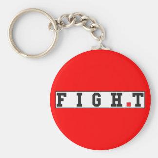 kämpfen Sie rotes Punktquadrat des Standard Runder Schlüsselanhänger