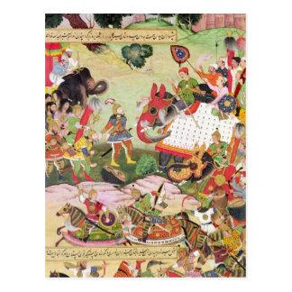 Kämpfen Sie zwischen den Kräften von Persien und Postkarte