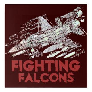 Kämpfende Falcons F-16 Acryldruck