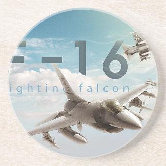 Kämpfender Falke F-16 Getränkeuntersetzer