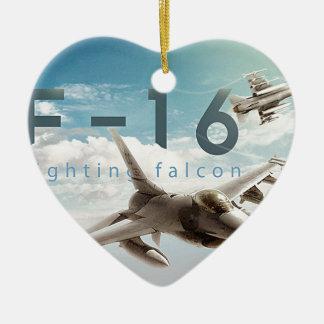 Kämpfender Falke F-16 Keramik Ornament