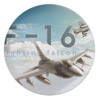 Kämpfender Falke F-16 Melaminteller