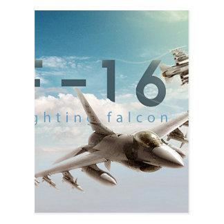 Kämpfender Falke F-16 Postkarte