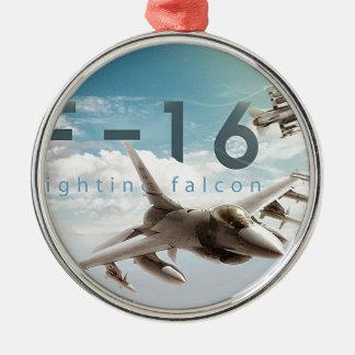 Kämpfender Falke F-16 Silbernes Ornament