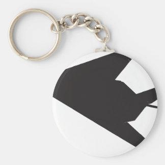 Kämpfer der Heimlichkeits-F-117 Standard Runder Schlüsselanhänger