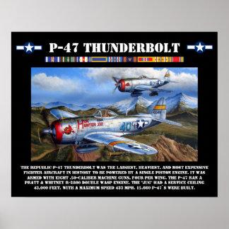 Kämpfer-Plakat des Thunderbolt-P-47 Poster