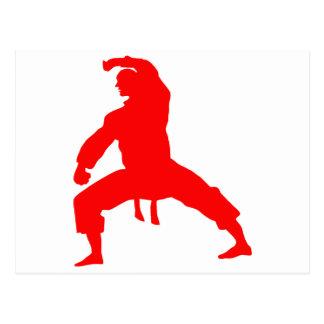 Kämpfer-red Postkarten