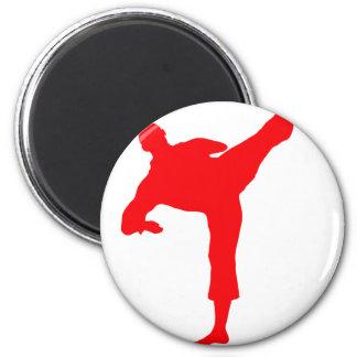 Kämpfer-red Runder Magnet 5,1 Cm