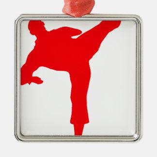 Kämpfer-red Silbernes Ornament