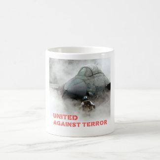 Kampfflugzeugflugzeuge: Vereinigt gegen Terror Kaffeetasse