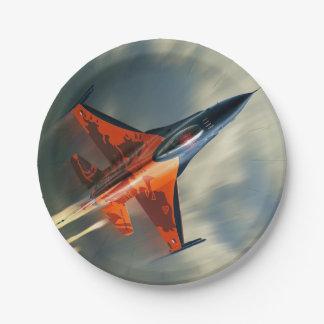 Kampfflugzeugmilitärflugzeuggeschwindigkeit Pappteller
