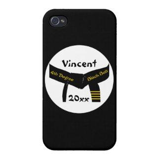 Kampfkunst-4. Grad-schwarzer Gürtel iPhone 4/4S Cover
