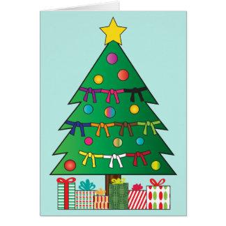 Kampfkunst-Gurt-Weihnachtsfeiertags-Baum Karte