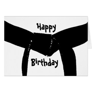 Kampfkunst-Gürtel-Geburtstag Karte
