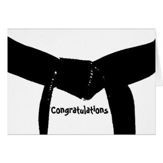 Kampfkunst-Gürtel-Glückwünsche Mitteilungskarte