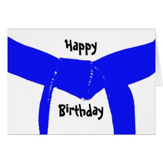 Kampfkunst-hellblaue Gurt-Geburtstags-Karte