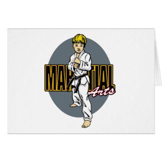 Kampfkunst-Junge Grußkarte