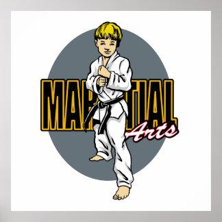 Kampfkunst-Junge Poster