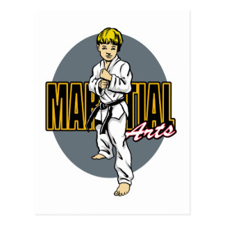 Kampfkunst-Junge Postkarte