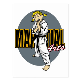 Kampfkunst-Mädchen Postkarten