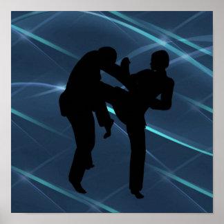 Kampfkunst-Plakate