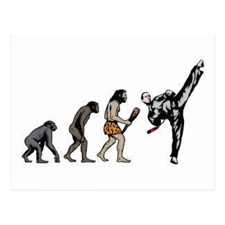 Kampfkunst Postkarte