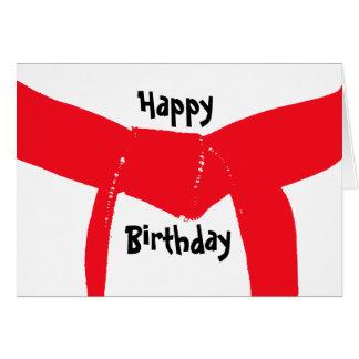 Kampfkunst-roter Gurt-Geburtstag Karte