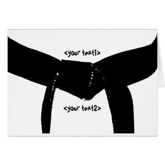 Kampfkunst-schwarzer Gürtel Mitteilungskarte