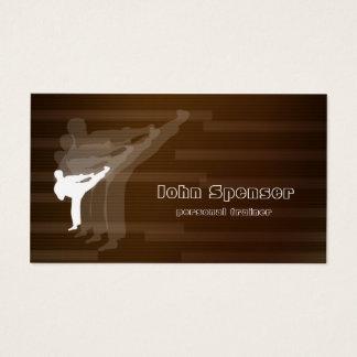 Kampfkunst-Trainer-Brown-Visitenkarte Visitenkarte