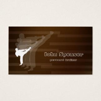 Kampfkunst-Trainer-Brown-Visitenkarte Visitenkarten