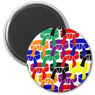 Kampfkünste ordnen Gurt-Magneten Runder Magnet 5,1 Cm