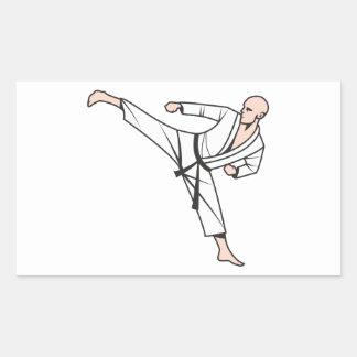Kampfsport martial arts rechteckige sticker