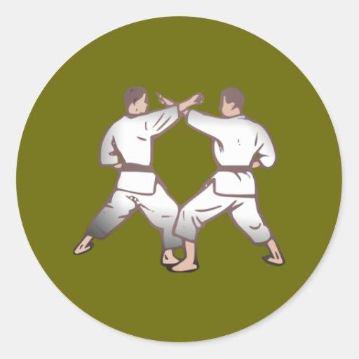 Kampfsport martial arts runde sticker