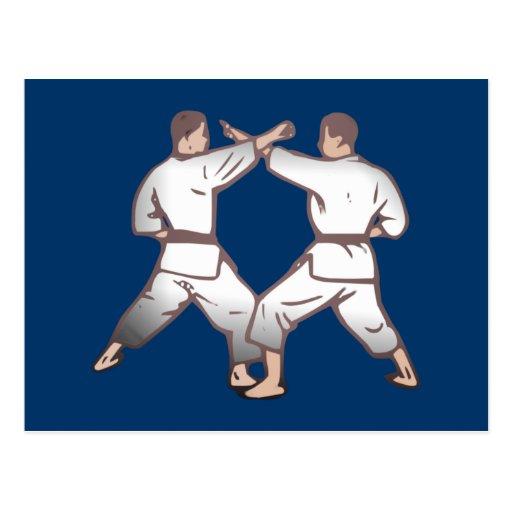 Kampfsport martial arts postkarten