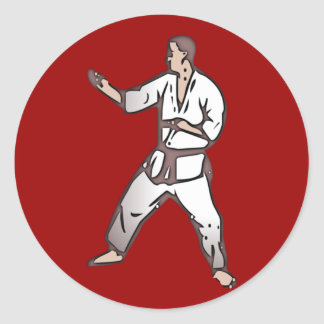 Kampfsport martial arts runder aufkleber