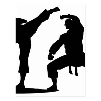 Kampfsportler-black Postkarte