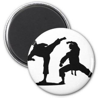 Kampfsportler-black Runder Magnet 5,7 Cm
