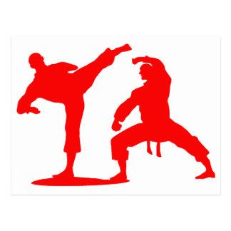Kampfsportler-red Postkarten